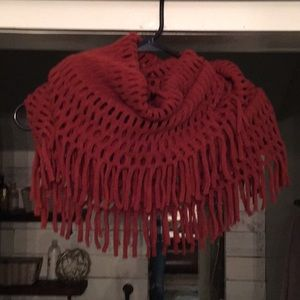 Accessories - Rust colored, fringe infinity scarf